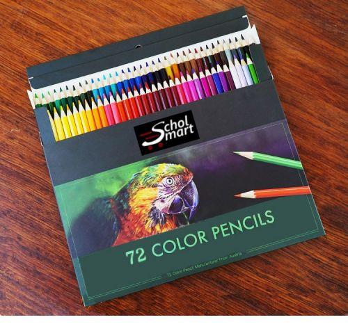Colored Pencils Premium Assorted Oil Based Pencils Set 72 Unique